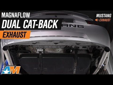 1999-2004 Mustang V6 Magnaflow Dual Cat-Back Exhaust Sound Clip & Install (видео)
