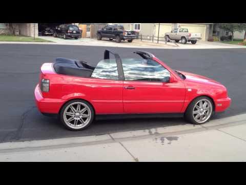 Vw Cabrio Gti Custom Car 18 inch Tenzor R racing wheels Candy Apple Red Neuspeed