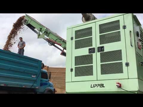 Picador Florestal produzindo uma quantia enorme de cavacos - PFL 400 x 700 MC