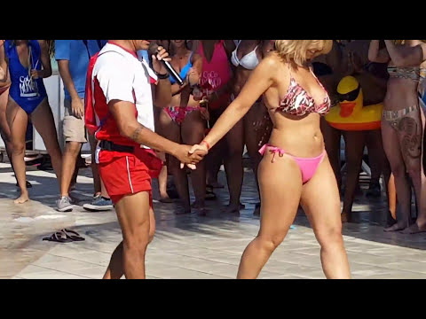 Spring Break Booty Shaking Contest At Riu Yucatan, Mexico