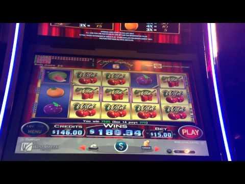 $15 Cherries Gone Wild Slot Machine Bonus Big Win High Limit