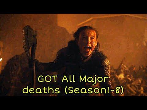 Game of thrones - All Major Deaths (Season 1-8)
