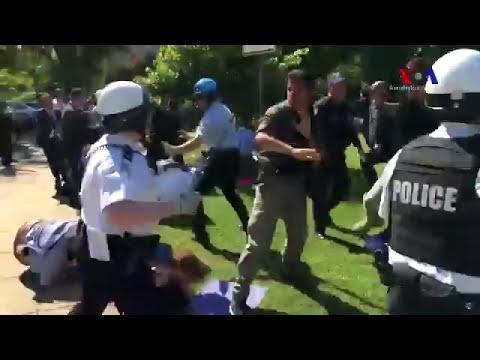 В США охрана Эрдогана избила демонстрантов. (видео)