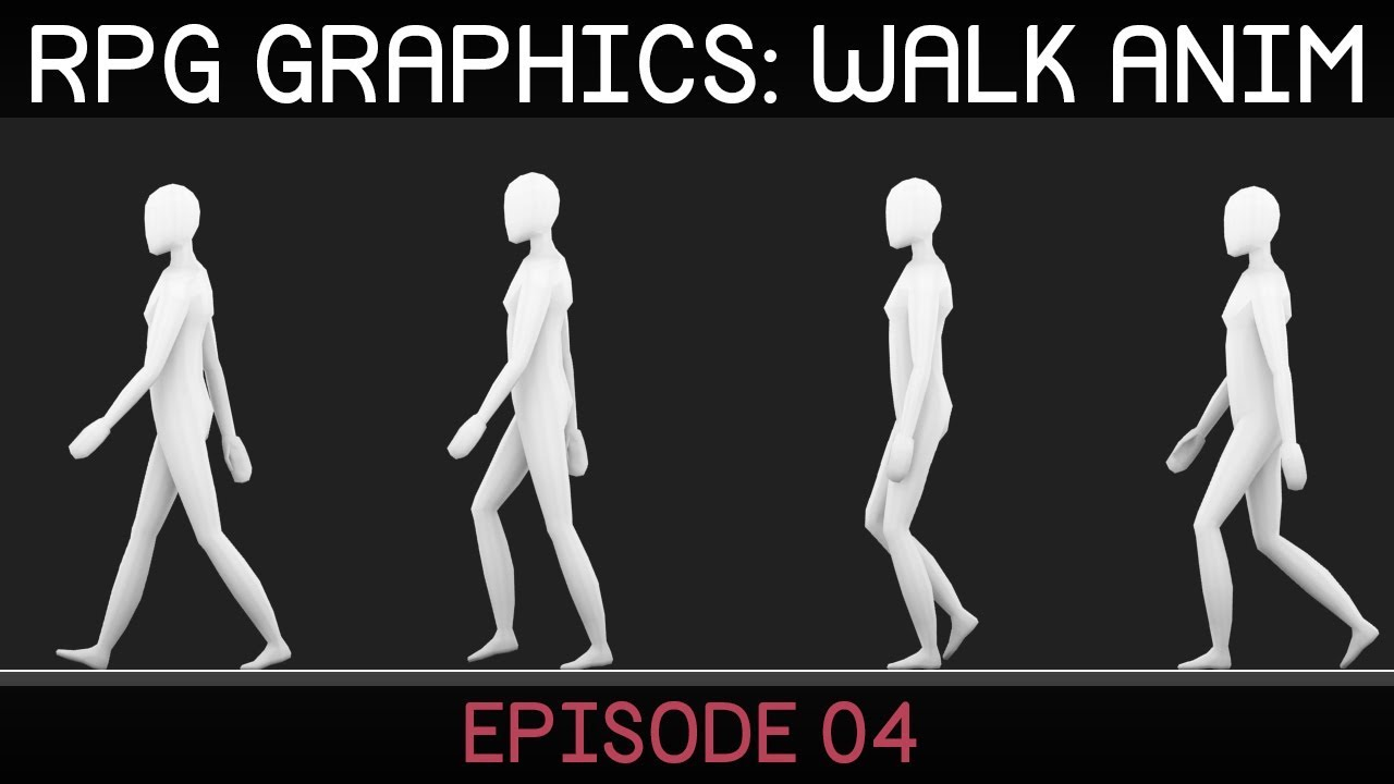 rpg graphics walk cycle animation using   blender