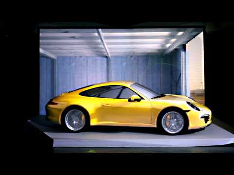 mapping - Car mapping projection on the new Porsche 911 Carrera 4S by DrawLight, for