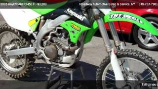 6. 2006 KAWASAKI KX450 F F - SERIES - for sale in Chadwicks, NY 13319