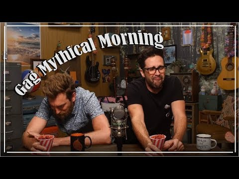 Gag Mythical Morning  -  Rhett and Link Gagging Compilation
