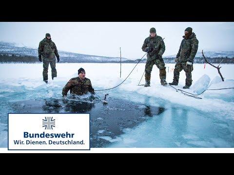 """Überleben – Soldaten der Bundeswehr brechen ins Eis ein – """"Eiskristall"""" in Norwegen Teil 1/2"""