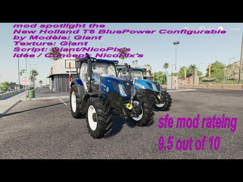 New Holland T6 BluePower Configurable v1.0