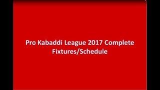 Download Lagu pro kabaddi 2017 Fixtures Mp3
