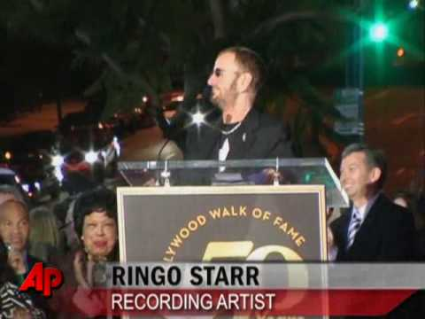 Ringo Starr Walk of Fame Ceremony