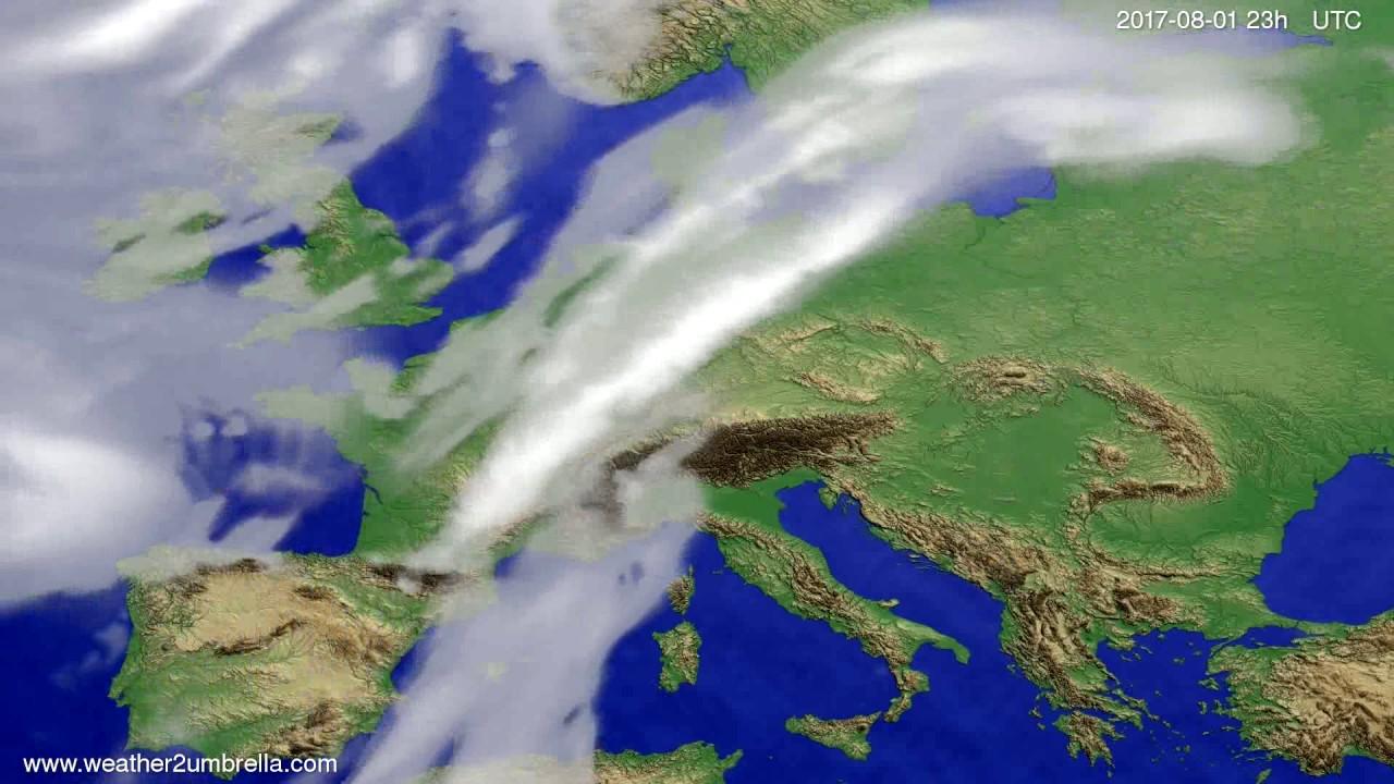 Cloud forecast Europe 2017-07-29