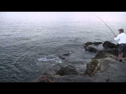 Skip Montello of North Coast Angler 12-14 Pound Blue on topwater
