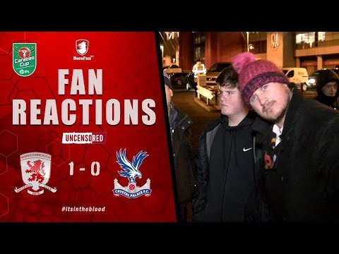 REALLY GOOD GETTING ONE OVER THE SCUMMY SOUTHERNERS - Middlesbrough v Crystal Palace Fan Reaction