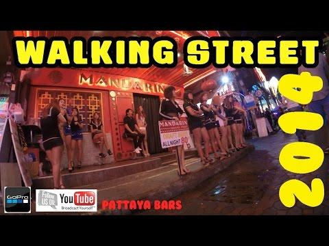 Pattaya Thailand Walking Street & Agogo Bars October 4th 2014