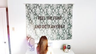 DIY HANGING QUOTE TAPESTRY - YouTube