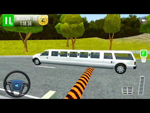 White Limousine Car Driving - Highway Gas Station Service #5 - Android Gameplay