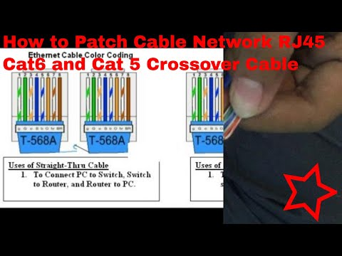 How to Patch Cable Network RJ45 Cat6 and Cat5 Crossover Cable