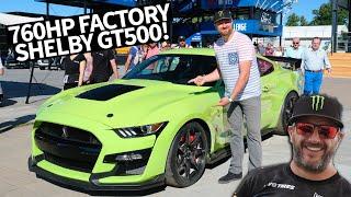 Video Most Powerful Street-legal Ford EVER! 760hp Ford Mustang Shelby GT500 Shredding w/Vaughn Gittin Jr. MP3, 3GP, MP4, WEBM, AVI, FLV Agustus 2019
