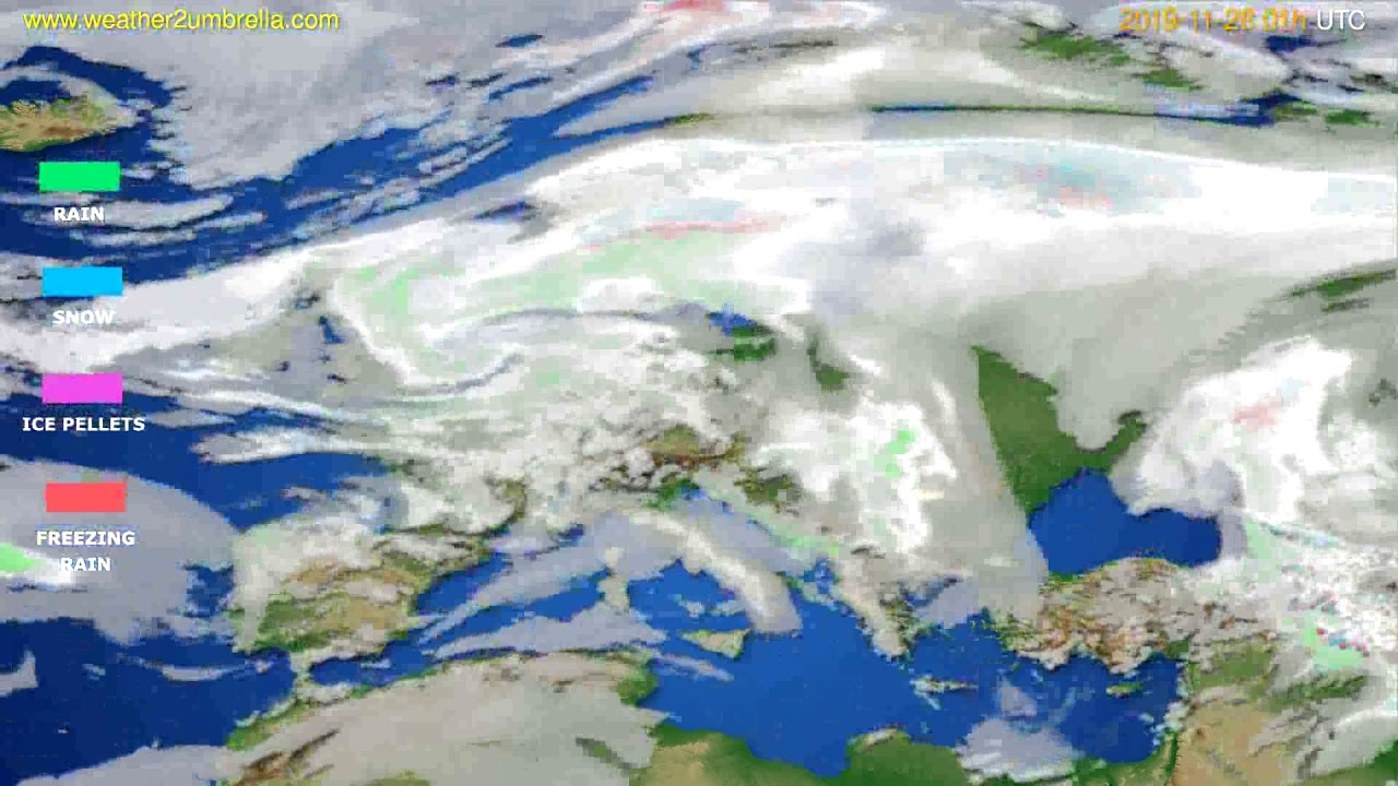 Precipitation forecast Europe // modelrun: 12h UTC 2019-11-26