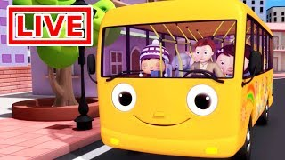 Little Baby Bum - Live 🔴| Wheels On The Bus | Nursery Rhymes for Kids | ABC Songs Live Stream