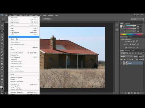 Photoshop Tutorial: CS6 Content Aware On The Patch Tool -HD-
