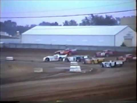 Dirt Track Racing  2nd Heat Race IMCA Late Model's Independence Motor Speedway 1980's