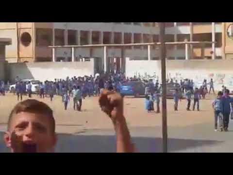 العرب اليوم - شاهد: هروب جماعي لطلاب مدرسة معين بسيسو في غزة