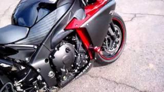 6. 2009 Yamaha YZF R1 Candy Red Raven Yoshimura R-77 3/4 carbon fibre exhaust
