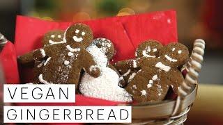 Vegan Gingerbread Men Cookies Recipe (Christmas Cookie Collaboration) | The Edgy Veg