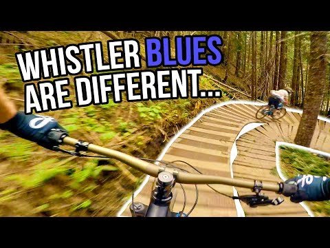 Whistler Bike Park Blue Trails On Opening Day 2018 w/BCPOV & Daily MTB Rider (видео)