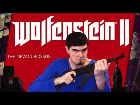 WOLFENSTEIN 2: THE NEW COLOSSUS - ПРЕДВАРИТЕЛЬНЫЙ ОБЗОР. BIOSHOCK INFINITE ОТ МИРА МЯСНЫХ ШУТЕРОВ