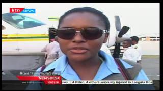 Villagers in Malindi get a rare ride inside a plane promoted by Aeronav flying school