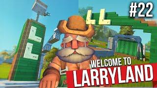 BUILDING A THEME PARK CALLED LARRYLAND!! - SCRAP MECHANICS SURVIVAL #22