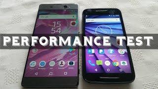 Sony Xperia XA Ultra VS Moto G3 Performance Test