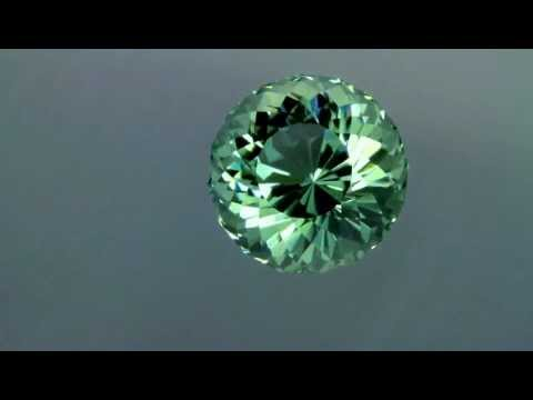 Prasiolite 23.75 Portuguese Round Brilliant with Finest Color
