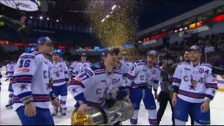 Kovalchuk and Datsyuk raise Gagarin Cup over their heads