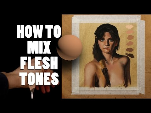 Color theory : How to mix Flesh tones in painting