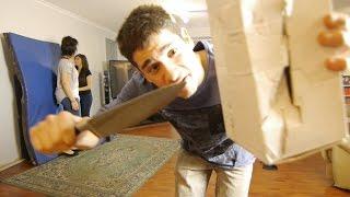 Unbelievably Dangerous KNIFE TRICK