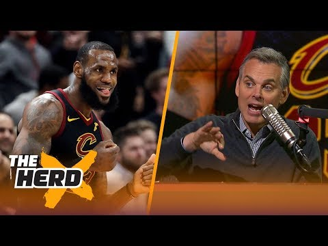 Colin Cowherd on LeBron's 40-pt triple-double and compares Jordan, Tiger and King James | THE HERD (видео)