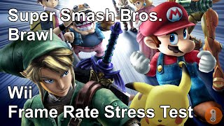 Super Smash Bros. Brawl Frame Rate Stress Test