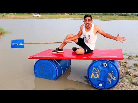 Desi Jugaad Boat- Making & Testing   Will It Swim?