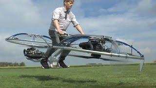Do not try this home. YouTube star and backyard inventor Colin Furze (https://www.youtube.com/user/colinfurze) created a hoverbike in his tool shed with fund...