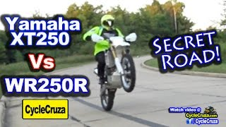 10. Yamaha WR250R vs XT250 | Secret Road Found | MotoVlog