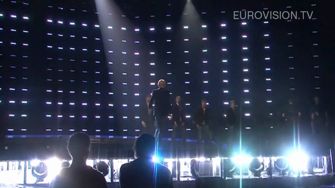 Malcolm Lincoln's first rehearsal at ESC 2010 (Eesti 2010)