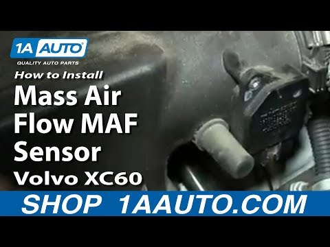 How To Install Replace Mass Air Flow MAF Sensor Volvo XC60