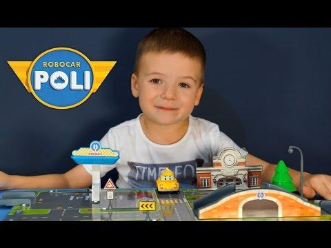 Набор Город: Почта с мостом (Кап металлический) Robocar Poli