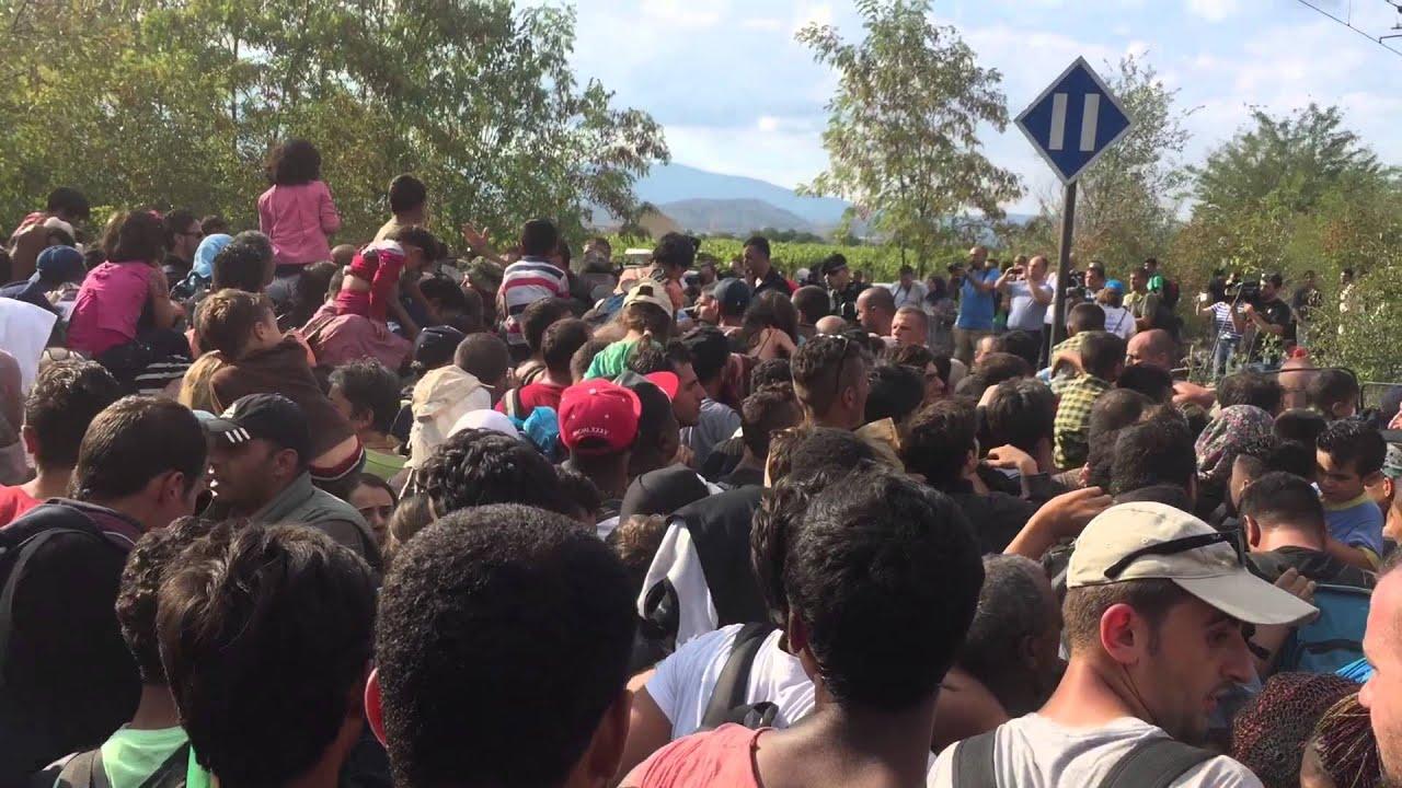Ειδομένη: Σκηνές χάους στα σύνορα Ελλάδας-ΠΓΔΜ