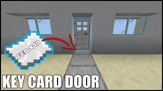 Key Card Door in Minecraft Bedrock! (Alarm and Mob Proof)