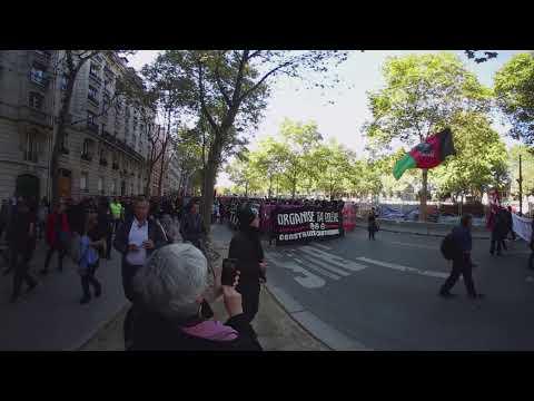 Manifestation contre la réforme du code du travail à Paris à 360 degrés